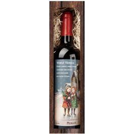 Bohemia Gifts & Cosmetics Merlot Veselé Vánoce 750 ml, dárkové vánoční červené víno Vína