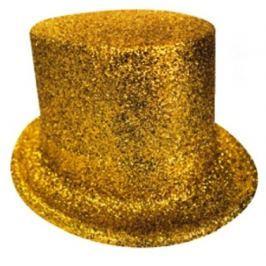 Cylindr karnevalový 25 cm zlatá Drogerie