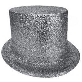 Cylindr karnevalový 25 cm stříbrný Drogerie