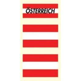 Arch Tetovací obtisky na obličej i tělo Rakousko vlajka 3 motiv Odstranitelná tetování
