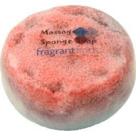 Fragrant Famous Glycerinové mýdlo masážní s houbou naplněnou vůní parfému Lady Gaga Fame v barvě černooranžové 200 g
