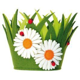 Květináč z filcu dekorace 18 x 15 cm 1 kus Ostatní dekorace