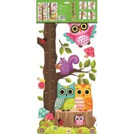 Room Decor Samolepky na zeď strom dvě sovy 70 x 33 cm 1 arch