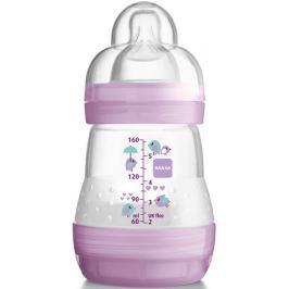 Mam Anti-Colic antikoliková láhev na krmení a silikonová jemná savička 1 pomalý různé barvy 0+ měsíců 160 ml