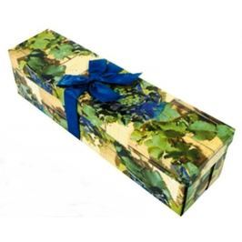 Anděl Dárková krabička skládací s mašlí na láhev hrozny 34 x 9,5 x 9,5 cm 1 kus Dárkové tašky