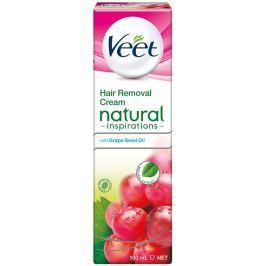 Veet Natural Inspirations depilační krém pro citlivou pokožku nohy a tělo 100 ml Přípravky na depilaci a epilaci
