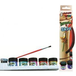 Amos Barvy na sklo a keramiku v krabičce 5 barev x 1 2ml + kontura 5 ml + štěteček