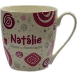 Nekupto Twister hrnek se jménem Natálie růžový 0,4 litru 056 1 kus