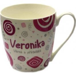 Nekupto Twister hrnek se jménem Veronika růžový 0,4 litru 079 1 kus