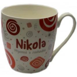 Nekupto Twister hrnek se jménem Nikola červený 0,4 litru 057 1 kus