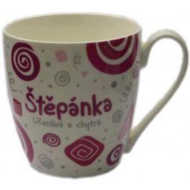 Nekupto Twister hrnek se jménem Štěpánka růžový 0,4 litru 073 1 kus