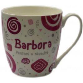 Nekupto Twister hrnek se jménem Barbora růžový 0,4 litru 007 1 kus