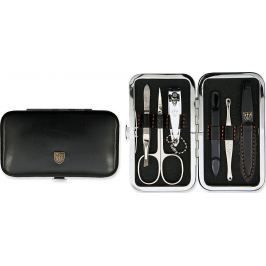 Kellermann 3 Swords luxusní manikúra Black 6 dílná Articial Leather z vysoce kvalitní umělé kůže 7845 F N