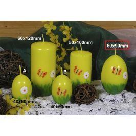 Lima Jarní motiv svíčka žlutá vajíčko velké 60 x 90 mm 1 kus Drogerie