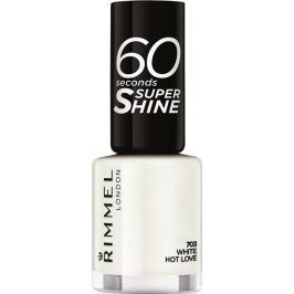 Rimmel London 60 Seconds Super Shine Nail Polish lak na nehty 703 White Hot Love 8 ml Laky na nehty