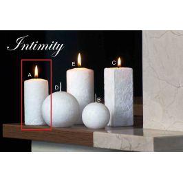 Lima Mramor Intimity vonná svíčka bílá válec 50 x 100 mm 1 kus Drogerie