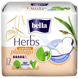 Bella Herbs Plantago Sensitive intimní aromatizované vložky s křidélky 12 kusů Hygienické vložky