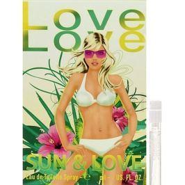 Love Love Sun & Love toaletní voda pro ženy 1,6 ml s rozprašovačem, Vialka Dámské parfémy