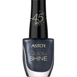 Astor Quick & Shine Nail Polish lak na nehty 602 Lady In Black 8 ml