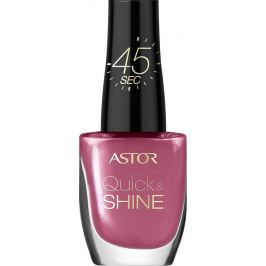 Astor Quick & Shine Nail Polish lak na nehty 204 Life In Pink 8 ml