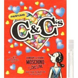 Moschino I Love Love toaletní voda pro ženy 1 ml s rozprašovačem, Vialka Dámské parfémy