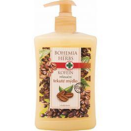 Bohemia Gifts & Cosmetics Kofein a Olivový olej relaxační krémové tekuté mýdlo 500 ml Mýdla