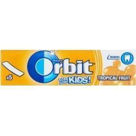 Wrigleys Orbit Kids Tropické ovoce žvýkačky bez cukru plátky 5 kusů 13 g
