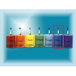 Lima Čakra Frezie vonná svíčka modrá válec 50 x 65 mm 120 g Drogerie