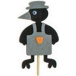 Vrána v zástěře šedá zápich 7 cm + špejle 15 cm Zápichy