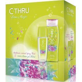 C-Thru Lime Magic parfémovaný deodorant sklo pro ženy 75 ml + sprchový gel 250 ml, kosmetická sada