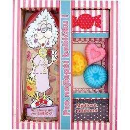 Bohemia Gifts & Cosmetics Pro nejlepší babičku sprchový gel 300 ml + ručně vyráběné mýdlo 3 kusy, kosmetická sada