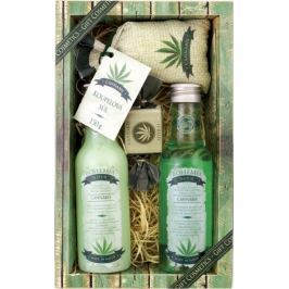 Bohemia Gifts & Cosmetics Cannabis Konopný olej sprchový gel 200 ml + šampon na vlasy 200 ml + koupelová sůl 150 g + toaletní mýdlo 30 g, kosmetická sada