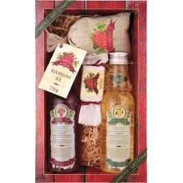 Bohemia Gifts & Cosmetics Wine Spa Vinná kosmetika Hroznový olej a extrakt z vinné révy sprchový gel 200 ml + šampon na vlasy 200 ml + mýdlo 30 g + koupelová sůl v sáčku 150 g, kosmetická sada