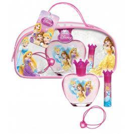 Disney Princess toaletní voda 50 ml + lesk na rty 5 g + náramek 1 kus, pro děti dárková sada Kosmetické sady