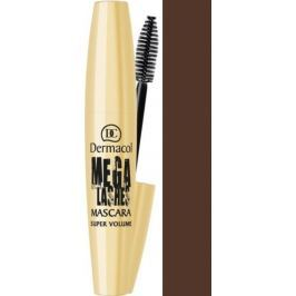 Dermacol Mega Lashes Super Volume řasenka hnědá 12 ml