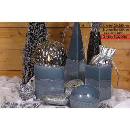 Lima Artic svíčka šedá válec 80 x 200 mm 1 kus