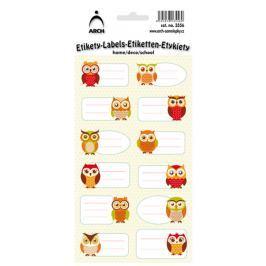 Arch Samolepky do domácnosti dekorační sovy 12 etiket