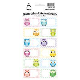 Arch Samolepky do domácnosti dekorační sovy barevné 12 etiket