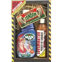 Bohemia Gifts & Cosmetics Gentleman mr. Man sprchový gel 500 ml + Loveminator sprchový gel 200 ml + dárkový kondom, kosmetická sada