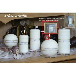Lima Aura Vanilka vonná svíčka žlutá koule v dárkové krabičce 100 mm 1 kus