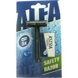 Alfa Klasický holící oboustranný strojek + Astra žiletky 5 kusů