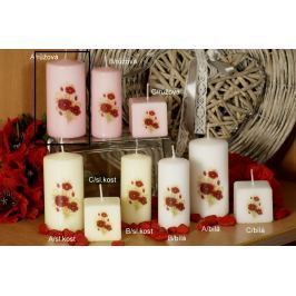 Lima Vlčí mák vonná svíčka růžová s obtiskem válec 50 x 100 mm 1 kus