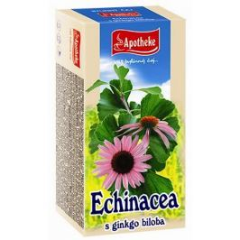 Apotheke Echinacea s ginkgo bilobou čaj pro přirozenou obranyschopnost, imunitní systém a normální funkci dýchacího systému 20 x 1,5 g