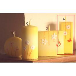 Lima Rozkvetlá louka svíčka žlutá hranol 45 x 120 mm