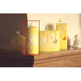 Lima Rozkvetlá louka svíčka žlutá válec 60 x 120 mm 1 kus