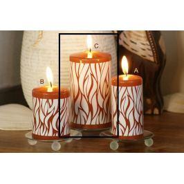 Lima Savana svíčka skořicová válec 80 x 150 mm 1 kus