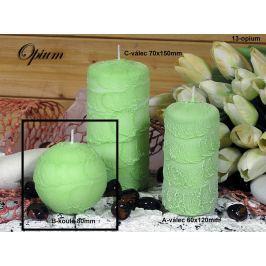 Lima Sirius Opium vonná svíčka zelená koule průměr 80 mm 1 kus