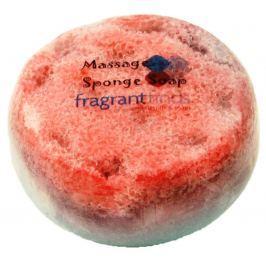 Fragrant Warm Glycerinové mýdlo masážní s houbou naplněnou vůní parfému Beyonce Heat v barvě bílooranžové 200 g