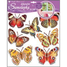 Room Decor Samolepky na zeď motýli skuteční 38 x 31 cm Drogerie