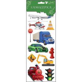 Room Decor Samolepky dopravní prostředky červená lokomotiva 34,5 x 12,5 cm